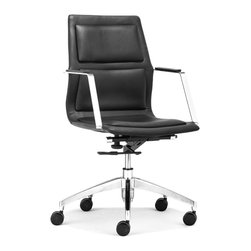ZUO MODERN - Luminary Low Back Office Chair Black - Luminary Low Back Office Chair Black