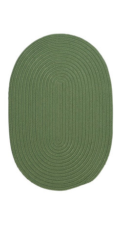 Colonial Mills - Colonial Mills Boca Raton BR69 Moss Green Rug BR69R144X180 12x15 - Just pick a coloreany colorethey are all here! This colorful outdoor rug utilizes a simple flat braid construction in an array of colors to put a fashionable stamp on your decor.