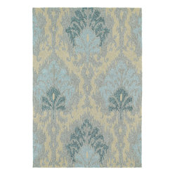 "Kaleen - Kaleen Habitat Sea Spray 5' x 7'6"" Spa Rug - Gorgeously textured and compellingly patterned, this rug looks far too elegant to be so tough. With its handmade construction and fade-resistant materials, it's stylish inside your home or out and built (beautifully) to last."