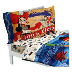 Crown Crafts Infant Products - Jake Neverland Pirates Toddler Bedding Set Comforter Sheets - FEATURES: