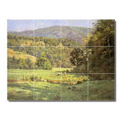 Picture-Tiles, LLC - Roan Mountain Tile Mural By Theodore Steele - * MURAL SIZE: 24x32 inch tile mural using (12) 8x8 ceramic tiles-satin finish.