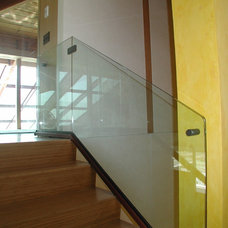 Contemporary Staircase by Mirage Mirror & Glass