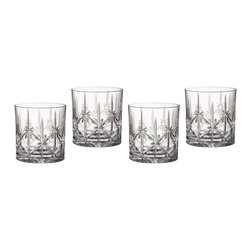 Waterford - Marquis by Waterford Sparkle Double Old Fashioned Glasses (Set of 4) - These waterford Double Old Fashioned glasses flaunt a fresh perspective on classic cockail party essentials. The pattern boasts elegant star and vertical wedge cuts on straight shapes perfect for serving refreshing drinks over ice.