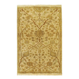 Adana IT-9006 Cream Rug - 9'x13' - Adana IT-9006 Cream: Traditional rugs inspired by Persian rugs, Antique Oriental rugs or other traditional area rugs are available now. ModernRugs. om is now also featuring traditional rug designs. Traditional Persian and Oriental rugs from ModernRugs. om are now available in a variety of colors and styles, and complement any space. Our traditional Persian rugs provide an elegant look. These Traditional antique Oriental rugs are timeless and add a touch of class to your home. This Traditional area rug is Hand Knotted in India with 100% Semi-Worsted New Zealand Wool. The specific colors of this rug include Cream, Beige, Sage, Yellow Green, Golden Brown, Gray. he primary color of this rug is white.