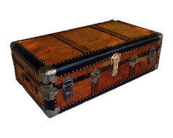Steamer Trunk - This superb vintage cabin trunk would make for a fabulous coffee table with great storage space inside.