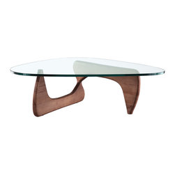 Manhattan Home Design - Noguchi Tribeca Coffee Table, Walnut - The Tribeca Coffee Table originally designed in 1944 by Isamu Noguchi has become one of the most distinguished pieces of furniture of the century.