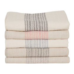 Imabari Organic Towels With Stripes - On my covet list is a whole mixed set of black and pink striped Imabari towels. I currently have just one small pink washcloth.