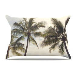 "Kess InHouse - Catherine McDonald ""Boho Palms"" Coastal Trees Pillow Case, King, 36""x20"" - This pillowcase, is just as bunny soft as the Kess InHouse duvet. It's made of microfiber velvety fleece. This machine washable fleece pillow case is the perfect accent to any duvet. Be your Bed's Curator."