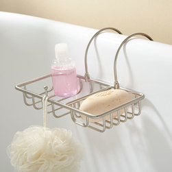Soap Basket with Sponge Holder - Crafted of beautiful brass, the classic wire Soap Basket is large enough to keep multiple soaps and bath gels elegantly perched over the tub.