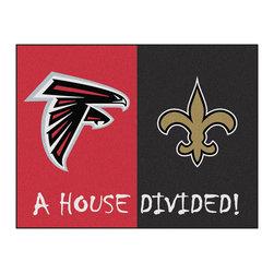 Fanmats - NFL Falcons-Saints House Divided Accent Rug - Features:
