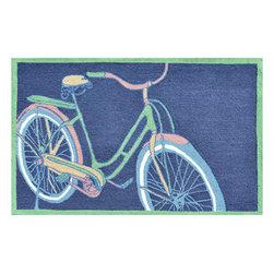 The Rug Market - Bike It navy area rug -