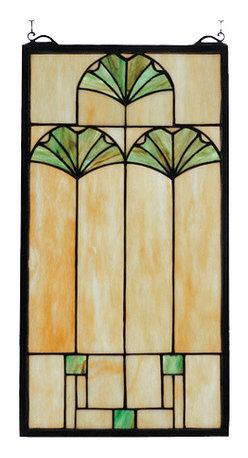 Meyda - 11 Inch W x 20 Inch H Ginkgo Windows - Color theme: Bag 59