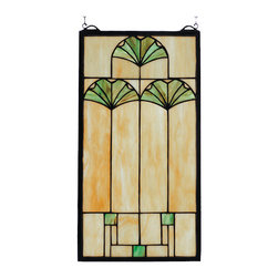 Meyda - 11 Inch W X 20 Inch H Ginkgo Window Windows - Color Theme: Bag 59