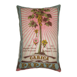 Papaya Botanical Pillow