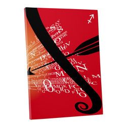 """PingoWorld - Zodiac Sign Sagittarius Gallery Wrapped Canvas Print, 20""""x16""""x1.25"""" - Zodiac Sign Sagittarius. Gallery wrap on archival quality canvas using Epson Ultra-Chrome inks and pine wood frames."""