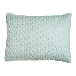 Horchow - King Quilted Sham - MIST (LT BLUE) (20x36) - King Quilted Sham