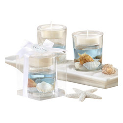 """Handcrafted Model Ships - Seashell Gel Tealight Holder 3"""" - Nautical Decoration - Your future's before you, as far as the eye can sea! Make it a bright one with our beach-inspired tealight holder, filled with an ocean of seashells and gratitude for your guests. They all deserve a day at the beach! Perfect for holding tea light candles, this Seashell Gel Tealight Holder 3"""" is sure to be a hit at any beach theme wedding or nautical theme wedding."""
