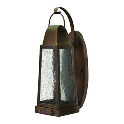 "Hinkley Lighting - Hinkley Lighting 1770SN Sienna Sedgwick 1 Light 14.5"" Outdoor Wall - Hinkley Lighting 1770 One Light 14.5"" Outdoor Wall Sconce from the Sedgwick CollectionAdorn your outdoor lighting décor with this rustic outdoor wall sconce lantern.Sedgwick's all brass construction symbolizes the best of vintage Hinkley quality and style. This traditional tapered rectangular lantern features a charming hinged door with sliding latch for authentic appeal. The classic Sienna finish combines beautifully with generous panels of clear seedy glass and embodies the essence of historic New England architecture and sophistication.Hinkley Lighting 1770 Features:Clear Seedy Glass ShadeDurable Solid Brass ConstructionHinkley Lighting 1770 Specifications:Requires (1) x 60 Watt Incandescent Candelabra Base Bulb (Not Included)Height: 14.5""Width: 4.5""Extension: 6.5""Backplate Dimensions: Height: 11.5"", Width: 4.5""Top to Outlet (TTO): 9""Voltage: 120Since 1922, Hinkley Lighting has been driven by a passion to blend design and function in creating quality products that enhance your life. Hinkley is continually recommended by interior and exterior designers, and is available to you through premier lighting showrooms across the country. We pride ourselves in delivering superior customer service that is second to none. We know that you have goals when it comes to your home s décor, and we care about helping you achieve the final outcome you are looking for, in every aspect, including installation."