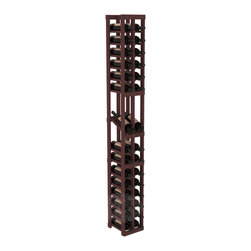 2 Column Display Row Cellar Kit in Pine with Walnut Stain - Make your best vintage the focal point of your wine cellar. High-reveal display rows create a more intimate setting for avid collectors' wine cellars. Our wine cellar kits are constructed to industry-leading standards. You'll be satisfied. We guarantee it.