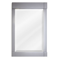 "Hardware Resources - MIR103-24 22"" X 34"" Grey Mirror with Beveled Glass - 22"" x 34"" Grey mirror with beveled glass by Hardware Resources"