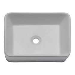 Decolav - Decolav Rectangular Lavatory White - DECOLAV's Classically Redefined Above-Counter Rectangular Bathroom Sink is an updated interpretation of a classically shaped lavatory. With its gently tapering walls, it fuses modern design.