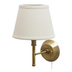 House of Troy - Greensboro Pin-up Wall Lamp - House of Troy GR901-AB - Antique Brass Finish. 13H x 9W x 11.25Deep. Takes one 75 watt Type A bulb (not included). Weight: 4 lbs. By House of Troy