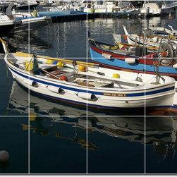 Picture-Tiles, LLC - Ships Boats Photo Shower Tile Mural 30 - * MURAL SIZE: 24x32 inch tile mural using (12) 8x8 ceramic tiles-satin finish.