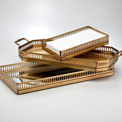 Galleria Gold Trays - Gold always works for me, and I love the vintage feeling of these trays.