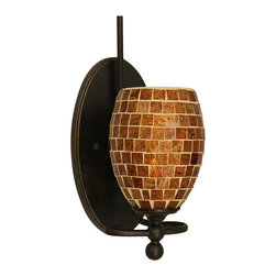 Toltec Lighting - 5 in. Mosaic Glass Wall Sconce - Bulb not included.