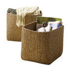 Design Ideas - Design Ideas Water Hyacinth Storage Baskets, Set of 2 - Our stylish, sophisticated Water Hyacinth Storage Baskets by Design Ideas, are hand woven from sustainable harvested water hyacinth reeds from the rivers and waterways of Thailand. The perfect catch-all, the baskets make for an attractive way to store everything from small toys to magazines to knitting projects. Available as a set of two.