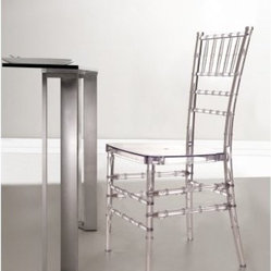 Zuo Modern Diamond Transparent Dining Chair
