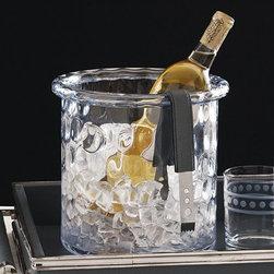 Global Views - Global Views 6.60227 Honeycomb Ice Bucket/Cooler with Rolled Edge - Global Views 6.60227 Honeycomb Ice Bucket/Cooler with Rolled Edge
