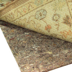 Rug Pad Corner - No-Muv Non Slip Square Rug Pad for Rug on Carpet, 5x5 - Keeps any rug flat on carpet even under heavy furniture