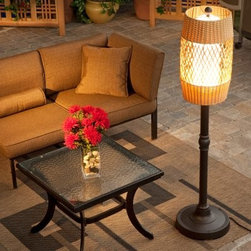 Tonga Outdoor Patio Floor Lamp - Perfectly styled for wild tropical-themed parties or an intimate gathering of friends the Tonga Outdoor Patio Floor Lamp brings light texture and ambiance to your patio. The barrel shaped shade is crafted of Antique Honey weatherproof wicker and features a diamond center pattern. All resin construction means this lamp stands up to the elements and an opal polycarbonate light bulb enclosure creates a soft quiet glow. This lamp uses a 100 watt bulb and is available in 58- or 70-inch heights. Some simple assembly is required.About Patio Living ConceptsIncorporating aesthetics function and quality from the initial design phase to the finished product Patio Living Concepts excels in creative product design. Their design and engineering team balance these parameters with reliability safety and durability in mind. They craft an unsurpassed level of quality into every product and meticulous quality inspections ensure conformity of all components. Patio Living Concepts strives to offer the finest quality leisure and lighting products at prices that are globally competitive. They do this through innovative designs excellent worldwide sourcing and quality assurance engineering. They are backed by over 38 years of experience in product design and engineering in the lighting industry.