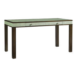 Aquarius - Aquarius Messina Desk in Aspen Green Shagreen Top - Aquarius - Writing Desks - 0142111027 - About the Aquarius Collection: