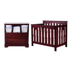 "Nursery Smart - Ethan 2-in-1 Convertible Crib Set - The Ethan petite 2-in-1 convertible crib is as sophisticated as it is functional. It is an ideal space saving solution for any nursery. Handcrafted by skilled wood workers with over 3 decades of woodwork experience. This mini portable size baby crib is designed and constructed to withstand the test of time. This mini crib is ideal for tighter spaces as it is lighter and smaller than a standard size crib. Converts from a petite crib to twin size bed with optional conversion kit sold separately. Features: -Ethan collection. -Material: 100% wood. -Child safe non-toxic finish. -No veneer or laminate components. -Adjustable to 4 levels of mattress support as your child grows. -No moving parts allows for a safer crib for you and your baby. -Converts to twin size bed with optional conversion rails. -Mini crib or port-a-crib mattress pads will fit in this petite crib. -Ideal for nursery with limited space. -Meets and exceeds all U.S. safety requirements. -Optional Conversion Rails convert all full size cribs into full size beds, and convert all petite or mini cribs into twin size beds. -This is a NON-Drop Side crib. Dimensions: -77"" H x 52"" W x 27.5"" D, 40 lbs."