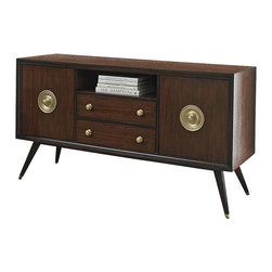 Ambella Home - New Ambella Home Media Console Solid Brass - Product Details