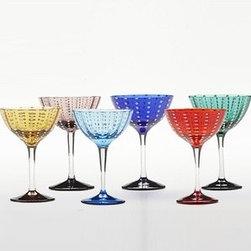 Zafferano - Zafferano | Perle Cocktail Glasses, Gift Set of 6 - Design by Federico DeMajo.