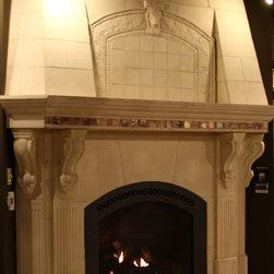 Cast Stone Fireplace - www.architecturaljustice.com