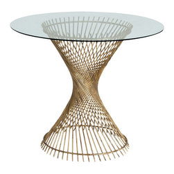 Arteriors - Pascal Entry Table - Here's a new twist on a classic. Rows of iron rods are twisted into a spiral shape and finished in gold for extra shine. In a grand entry, under a modern chandelier, topped with a modern sculpture or voluptuous vase of fresh flowers, this table would be stunning.