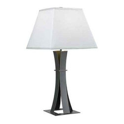 Kenroy Home - Kenroy Home 32113 1 Light Table Lamp - 1 Light Table Lamp with 3-Way Rotary Switch from the Guilder CollectionSmart and modern, Guilder's base is an enticing blend of angles and curves. Finished in an Oxidized Bronze and topped with a White shade, this versatile lamp is a welcome addition to all types of decors.Features:
