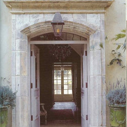 Architectural - Provencal style door surround in re-worked blocks of Antique Cotswold