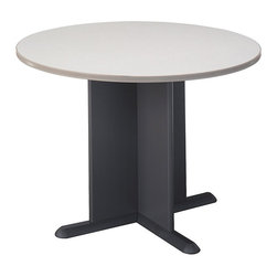 BBF - BBF Round 3.4 Conference Table with X-Shaped Base in White Spectrum - BBF - Conference Tables - TB14542A - The BBF Round Conference Table is an ideal meeting space for your office or home office. It's not too big to fit into a smaller room and not too small that it loses its functionality. The simple design of this item makes it an ideal piece for office environment of any style.