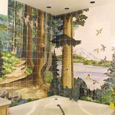 Traditional Tile by Paul Lewing Custom Tile