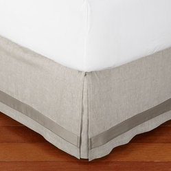 Linen with Silk Trim Bed Skirt