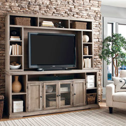Aspenhome - Entertainment Center with Display Shelves -