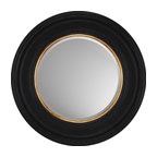 Paragon - Decorative Mirror, Round Black with Gold - Each product is custom made upon order so there might be small variations from the picture displayed. No two pieces are exactly alike.