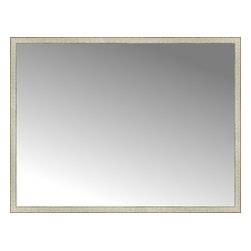 """Posters 2 Prints, LLC - 71"""" x 54"""" Libretto Antique Silver Custom Framed Mirror - 71"""" x 54"""" Custom Framed Mirror made by Posters 2 Prints. Standard glass with unrivaled selection of crafted mirror frames.  Protected with category II safety backing to keep glass fragments together should the mirror be accidentally broken.  Safe arrival guaranteed.  Made in the United States of America"""