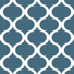 "Indigo Root - Tilez Peel & Stick Wallpaper Squares - Classy Clean, Inky Blue, 12""x12"" 3-Pack - 12""x12"" Peel and Stick Tilez squares are made of a polyester fabric material and are environmentally safe. Bio-degradable over time. Since Tilez are non-toxic, they are great for infant and kids rooms! Transform small spaces. Refurbish old furniture. Create a non-slip dinner table runner. Tilez allows you to easily create stripes on a wall with in seconds! This material does not rip or wrinkle and is not required to be removed over time. Results may vary on stucco and other surfaces that are not smooth & clean."
