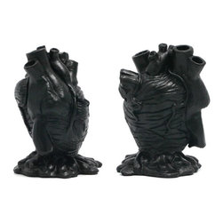 Black Anatomical Heart Pencil Holder - Every office needs an anatomical heart pencil holder, right? Right.